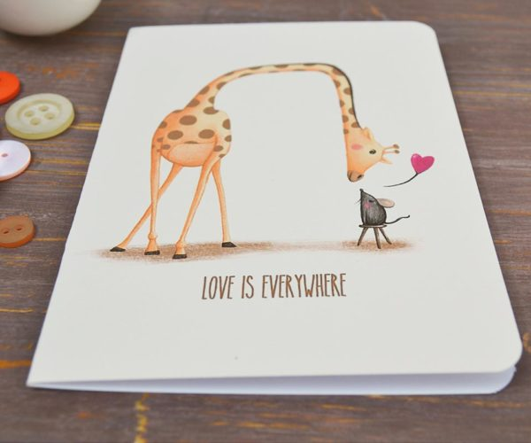 Greeting card Love is everywhere