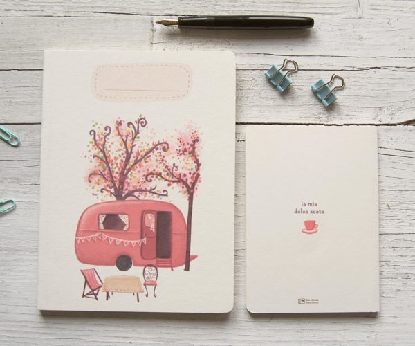 Handmade notebook Caravan