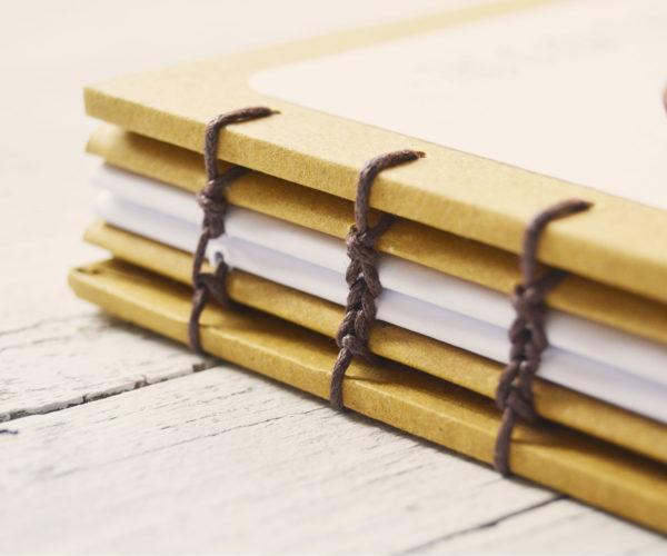 Coptic binding on Baby diary