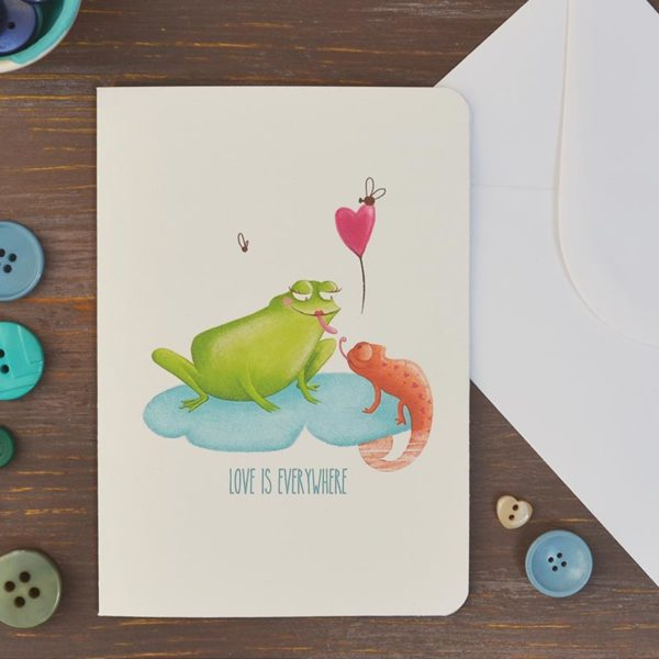 Greeting card Frog