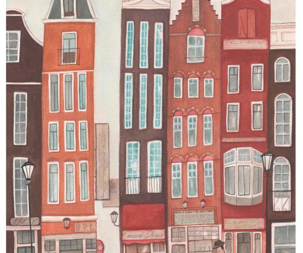 Illustrated print Amsterdam