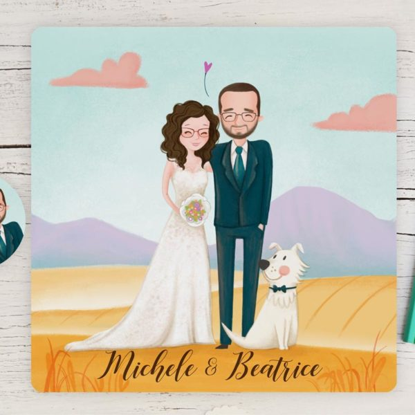 Wedding invitation with portrait