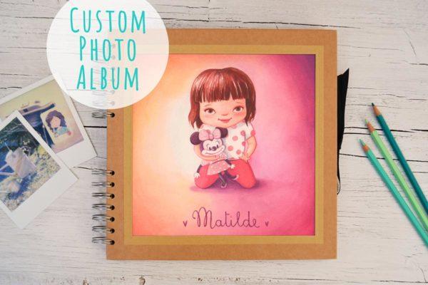 Photo album with portrait