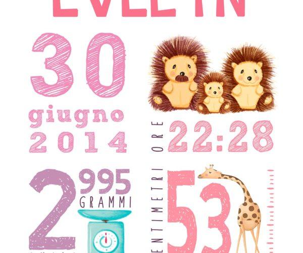 Custom newborn poster