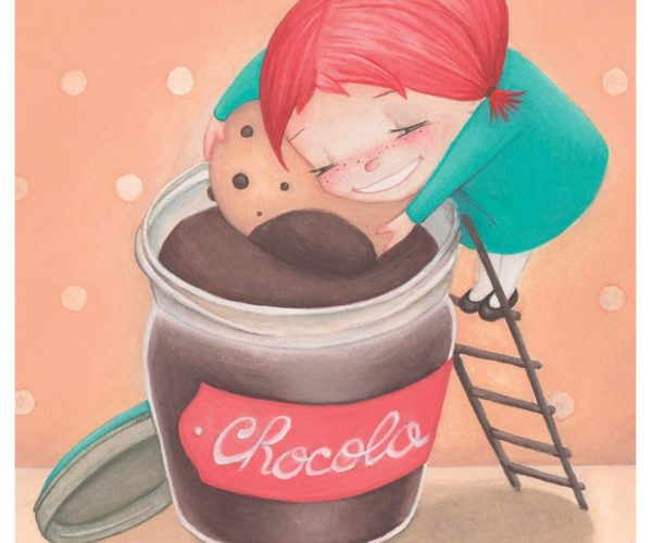 Illustrated print Chocolate