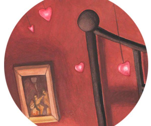 Illustrated print Amélie - Details