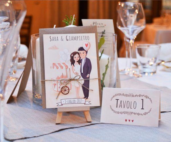 Wedding invitations with portrait
