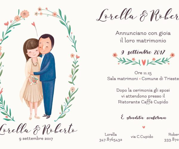 Wedding invitations with portrait
