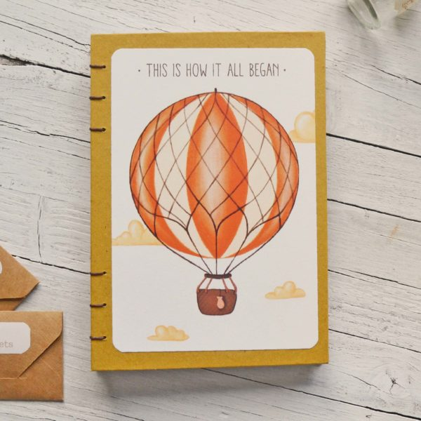 Baby diary Hot air balloon, pregnancy journal