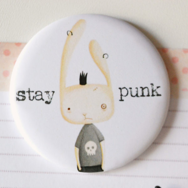 Illustrated magnet Stay punk