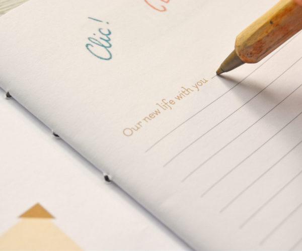 Baby diary, pregnancy journal - Inside
