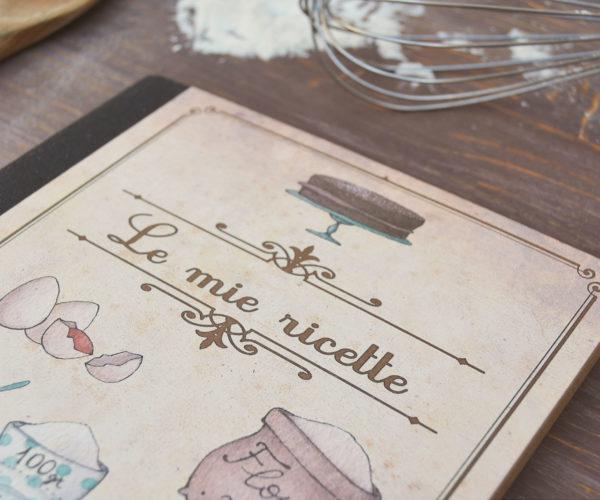 Kraft notebook Le mie ricette - Details