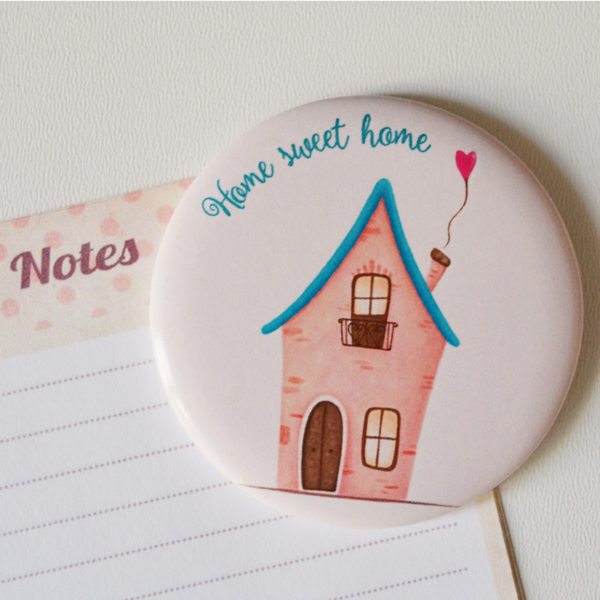Illustrated magnet Sweet home