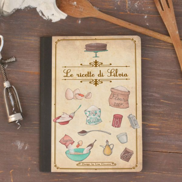 Kraft notebook Le mie ricette - Customized Front