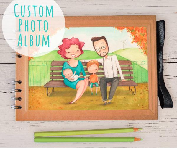 Photo album A5 with portrait
