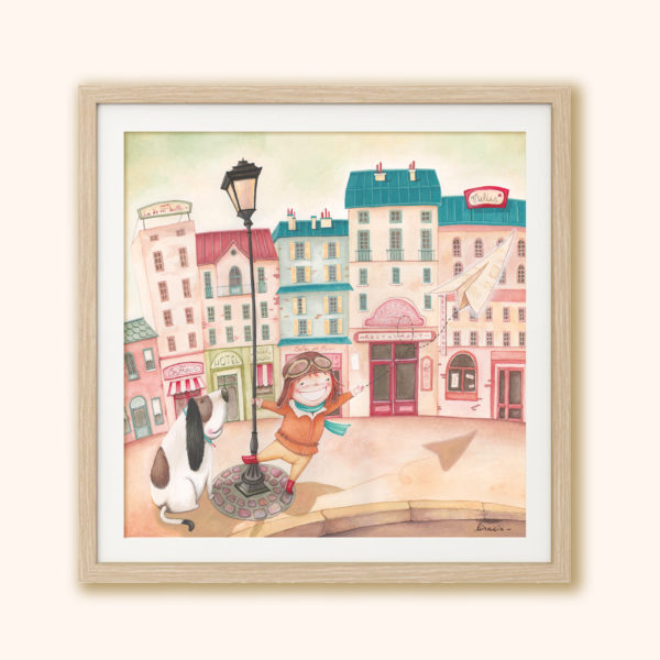 Illustrated print Le petit aviateur