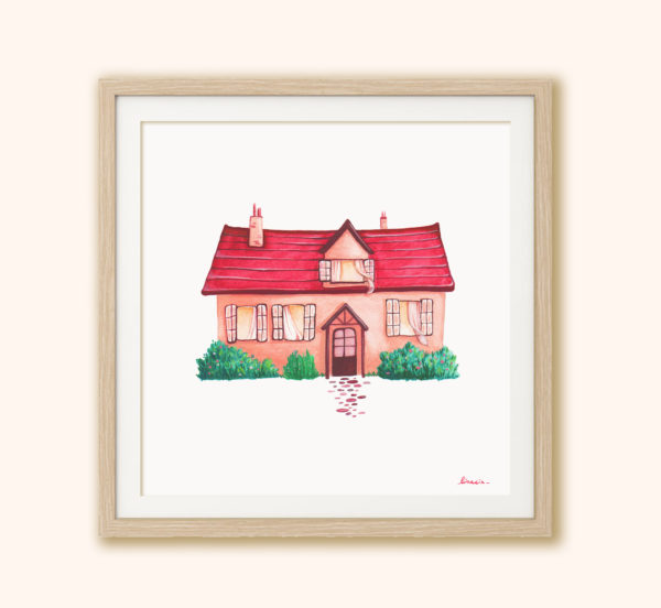 Illustrated print Cottage