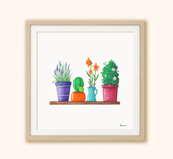 Illustrated print Flowers