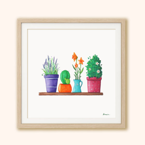 Illustrated print Flowers