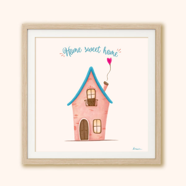 Illustrated print Sweet home