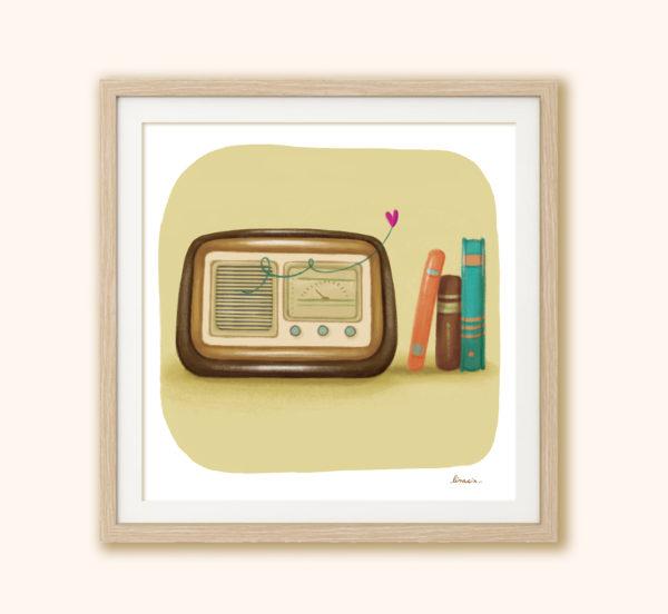 Illustrated print Radio