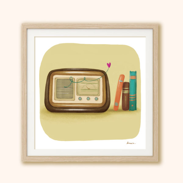 Illustrated print Radio