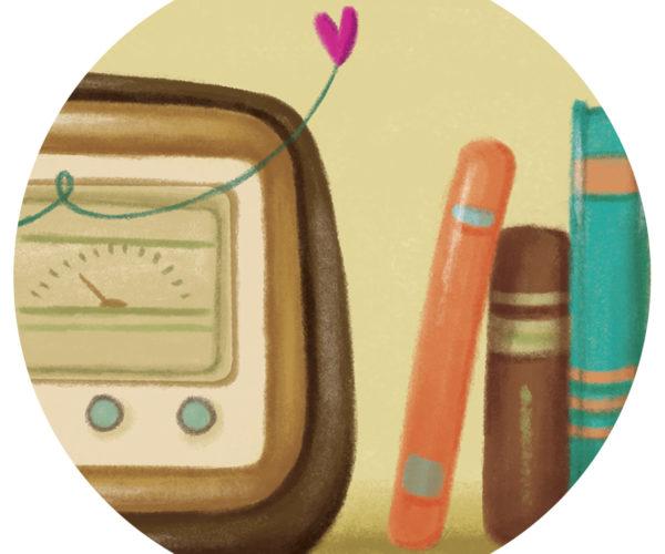 Illustrated print Radio - Details