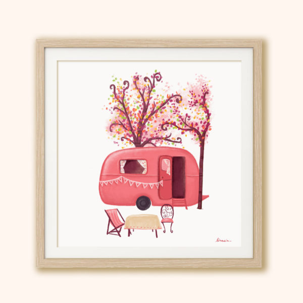 Illustrated print Caravan