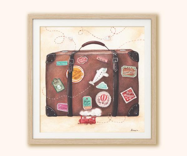 Illustrated print Suitcase