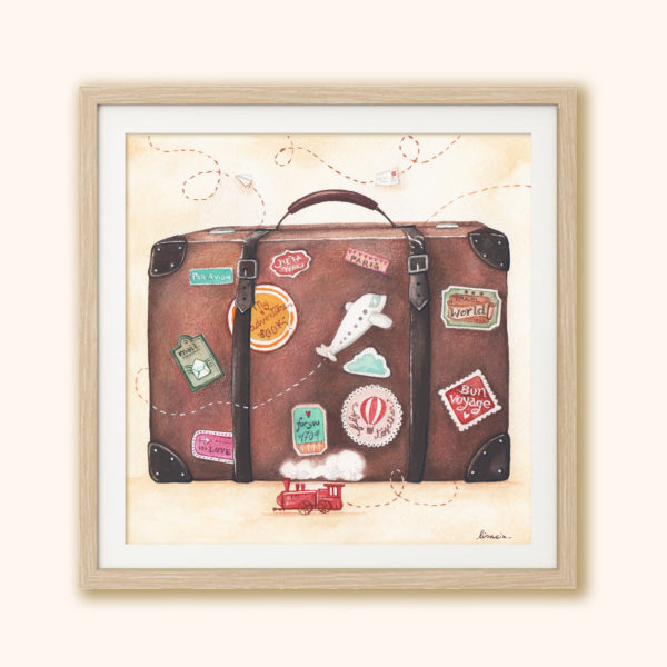 Illustrated print Suitcase