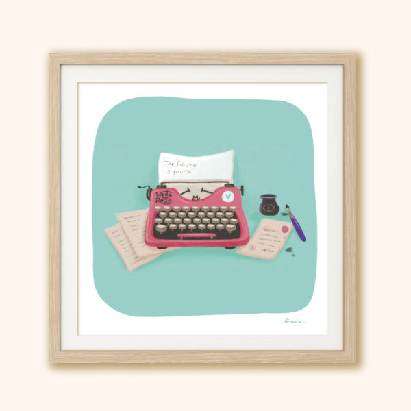 Illustrated print Typewriter
