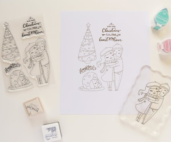 Clear stamps set Christmas Time