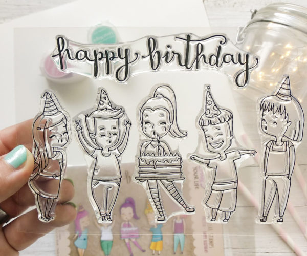 Clear stamps set Birthday Girl