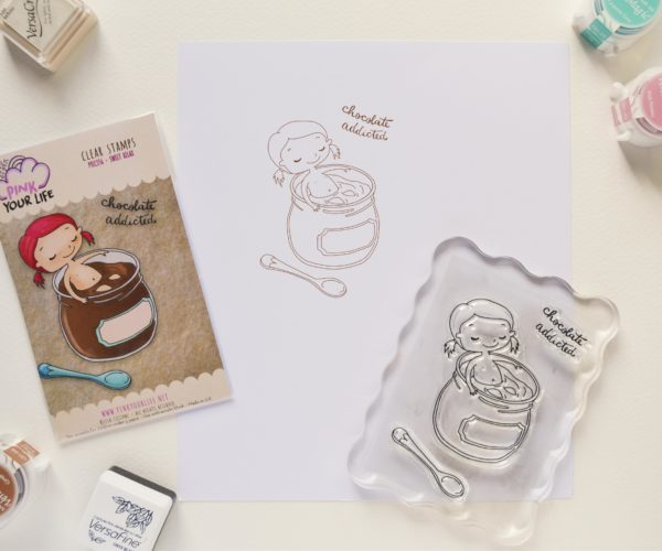 Clear stamps set Chocolate