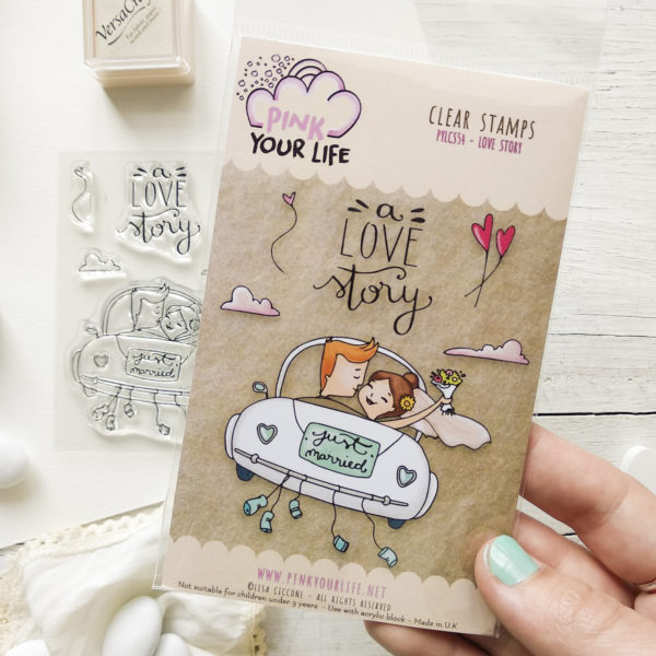 Clear stamps set Love story