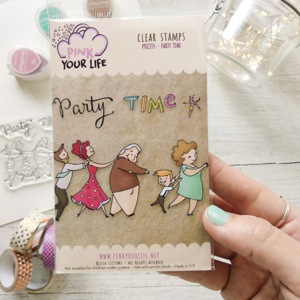 Clear stamps set Party time