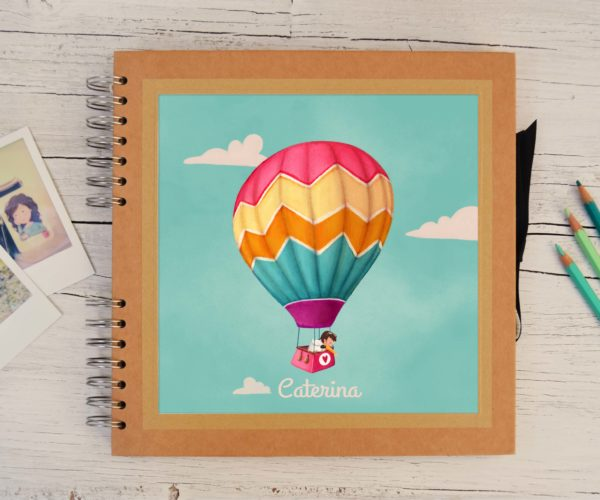 Photo album Girl in hot air balloon with name
