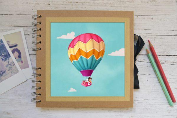 Small photo album Girl in hot air balloon