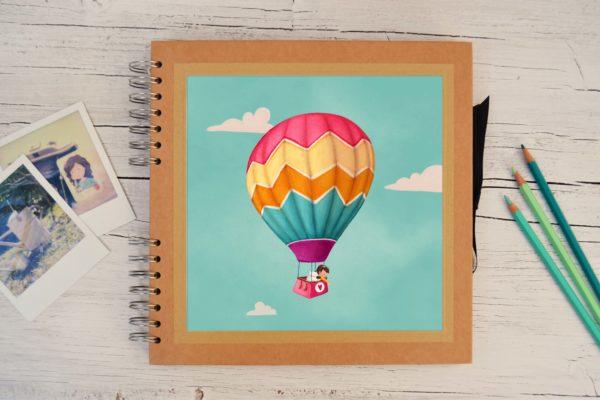 Photo album Girl in hot air balloon