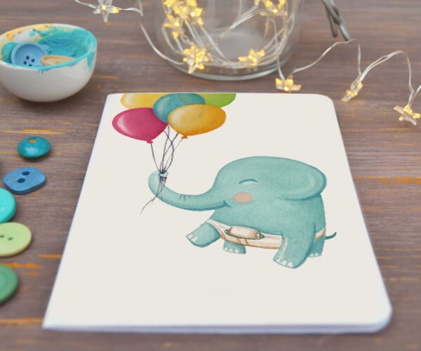 Greeting card Baby elephant