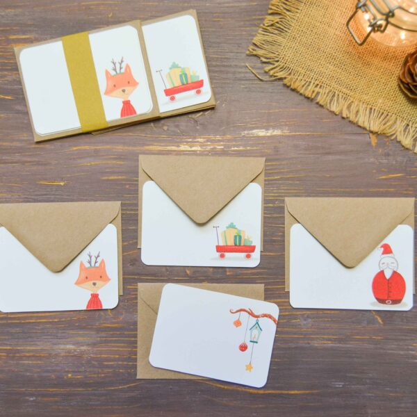 Set 4 Christmas cards