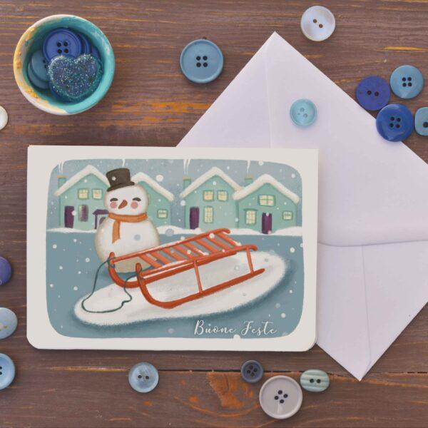 card Xmas snow